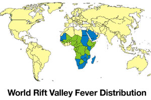 Rift Valley Fever Map